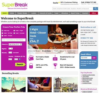 Existing homepage version before redesign