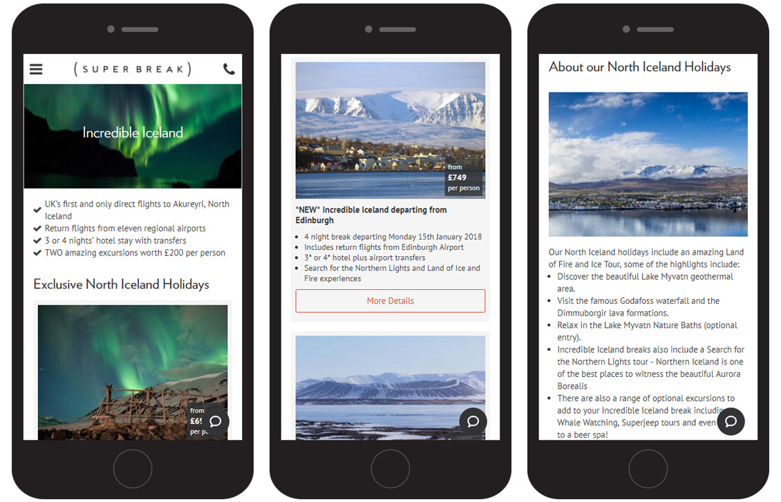 Iceland mobile designs